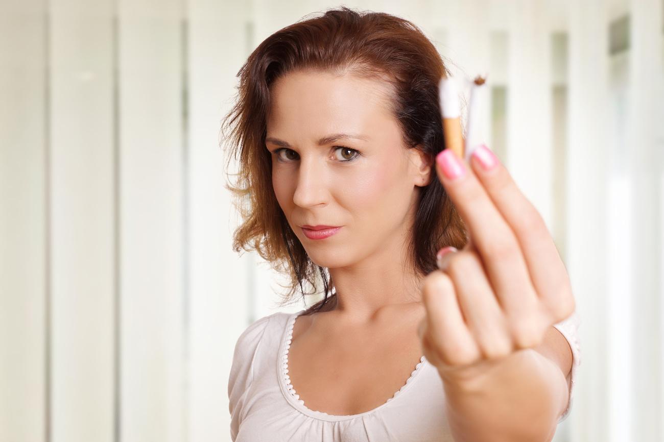 Quando smettere di fumare? Seguite il ciclo mestruale